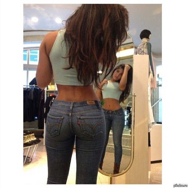 Young amateur chick Kaci Star showing off pretty panties under denim jeans № 128309 бесплатно