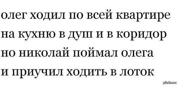 Олег ненавидит всех стих