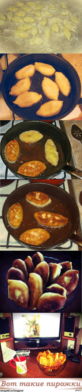 Осторожно, горячее! Пирожочки с мясом, с картошкой и печенкой. С пылу с жару. В комментах рецепт.