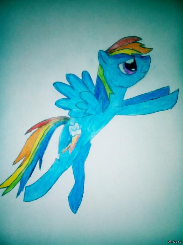 Рисунок Rainbow Dash Оцените мой рисунок. Критику приветствую ^_^