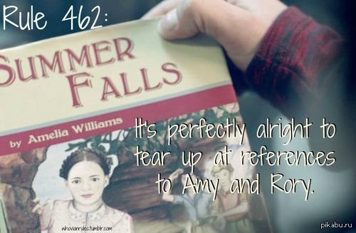 """А вы знали, что книга """"Summer Falls"""", которую мы видим в серии """"Колокола Святого Иоанна"""" написана Амелией Уильямс? На картинке написано: """"Это совершенно нормально, пускать слезу над отсылкой к Эми и Рори."""""""