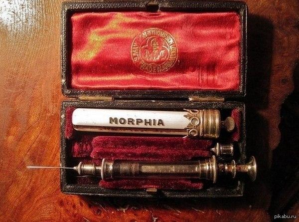 Викторианский набор для инъекций морфина