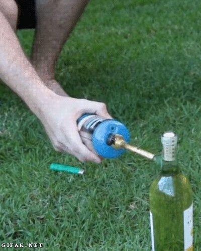 Как открыть бутылку вина без штопора.