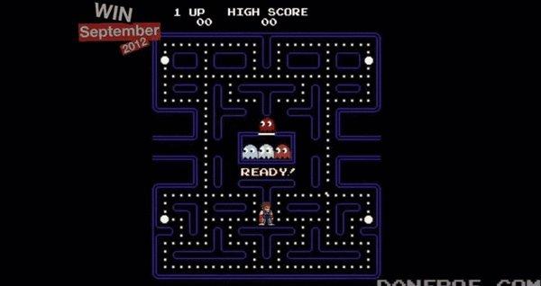 Чак Норрис играет в Pacman Привет Destroeer'y ;)
