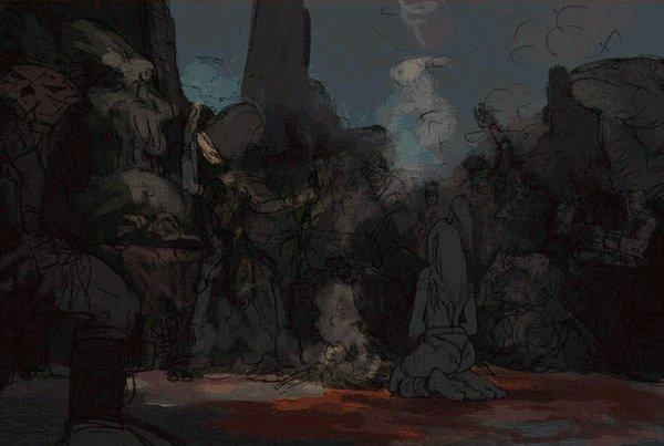 Процесс рисования Game of Blood Sacrifice by 6kart