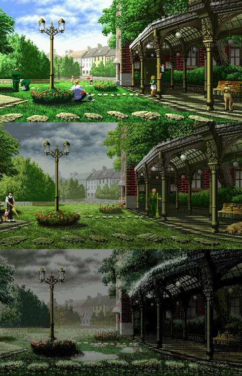 История одного дождя Pixel gif