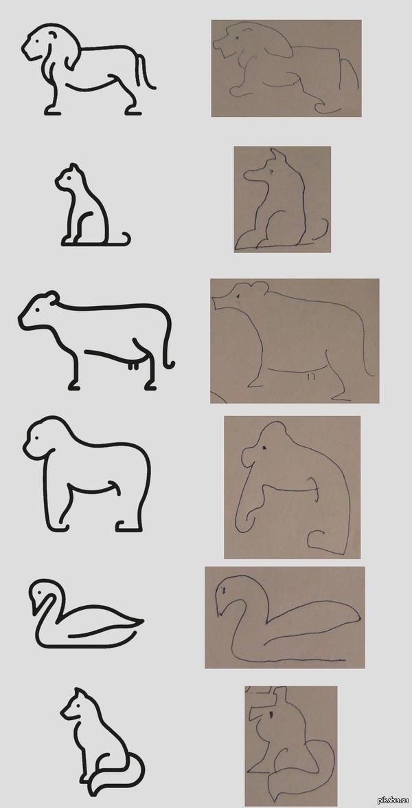 Легко и просто рисуем различных животных говорили они...