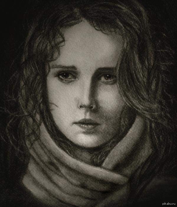 Портрет Ещё один портрет в поддержку пятничного тега:)  Угольный карандаш.