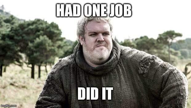 У него была одна задача Игра престолов, Ходор
