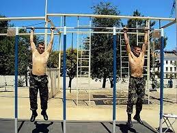 Упражнение на перекладине Огнетушитель, Байка, Армия