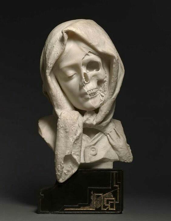 Все тлен... Скульптура, Мрамор