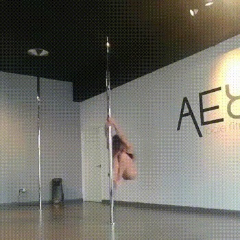 Шестовая акробатика. Pole dance, Танец на шесте, Танцы, Длинногиф, Гифка, Видео