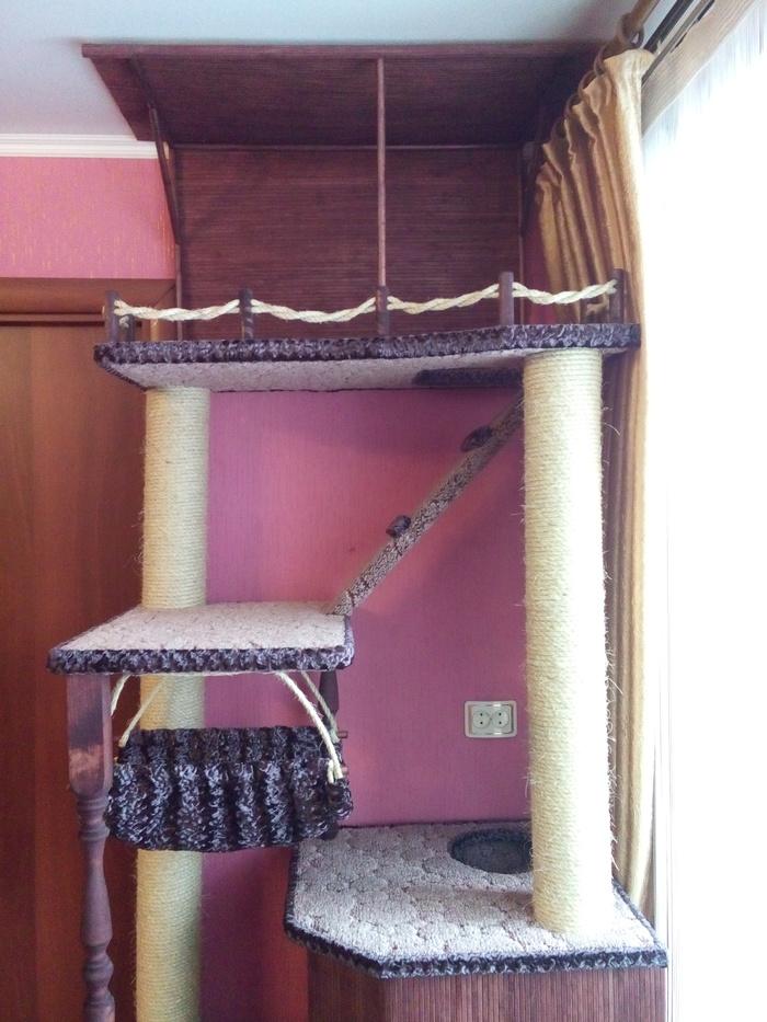 Кошкин дом своими руками дом для кота, длиннопост, своими руками, Стройка века