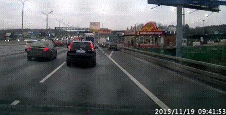 Неполезный сон ДТП, Мкад, Сон за рулём, Уснул за рулем, Гифка, Видео