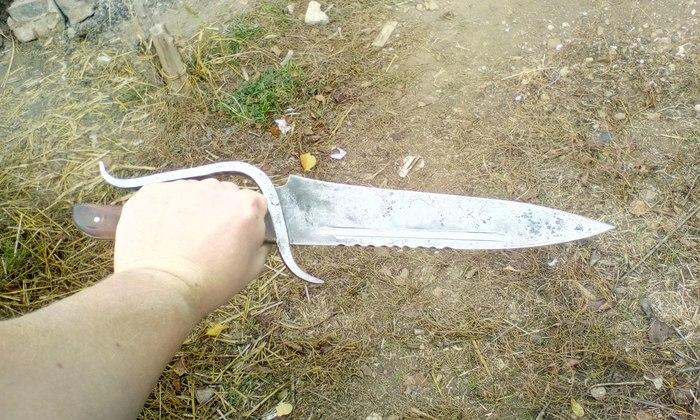 """(Переделал) Дедов """"Нож для хлеба"""" Переделка, Нож, Короткий меч, 47 см, Рукоять береза, Длиннопост"""