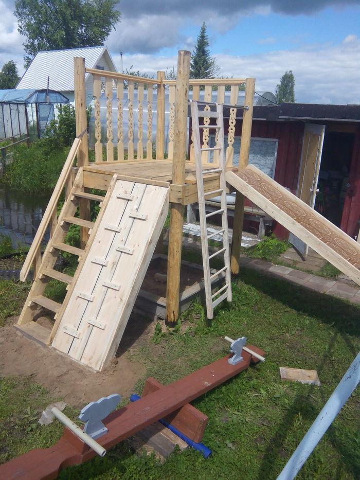 Как я горку детям на даче строил горка, дача, своими руками, моё, длиннопост