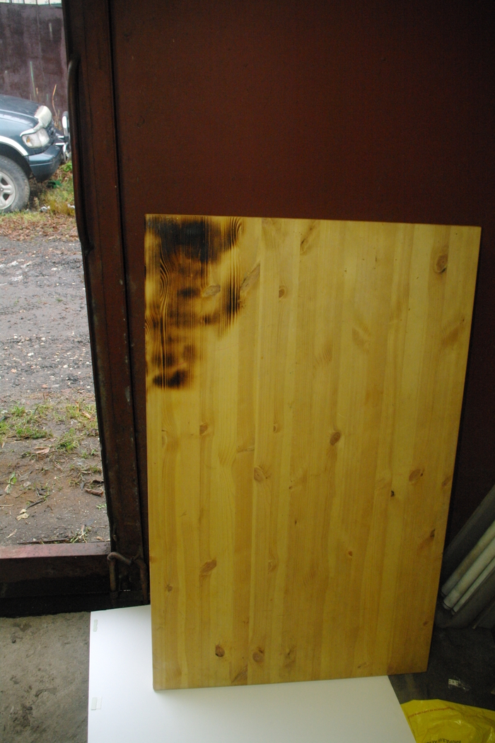 Браширование и обжиг деревянного стола стол, ИКЕА, сделай сам, крафт, браширование, обжиг, обжиг древесины, мебель, длиннопост