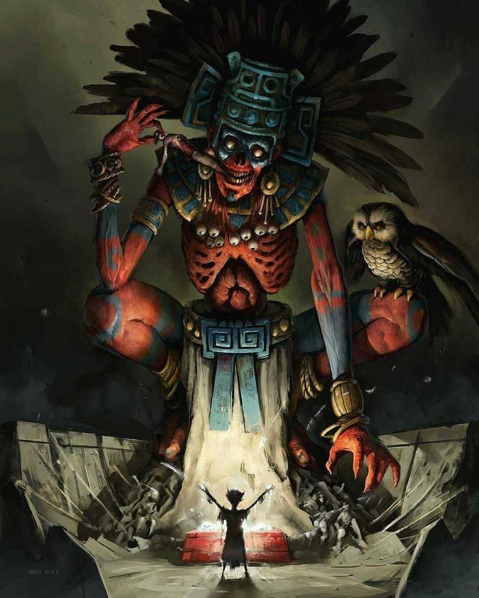 Когда спиритический сеанс пошёл не так как надо Арт, Картинки, Ритуал, Ацтеки