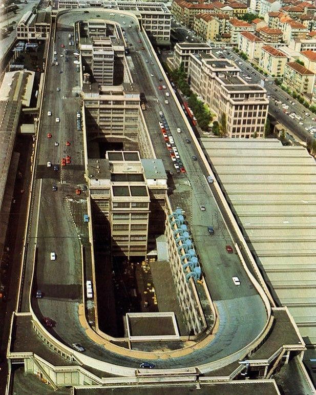 Испытательный трек на крыше фабрики Fiat Lingotto в Турине