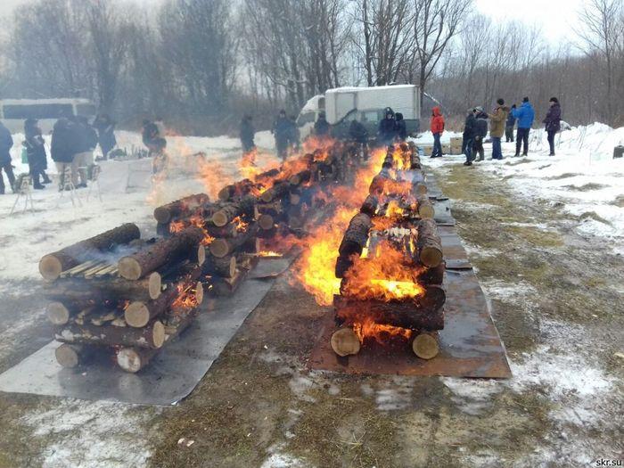 На Сахалине кремировали останки японских солдат Кремация, Вторая мировая война, Сахалин, Россия-Япония, Длиннопост