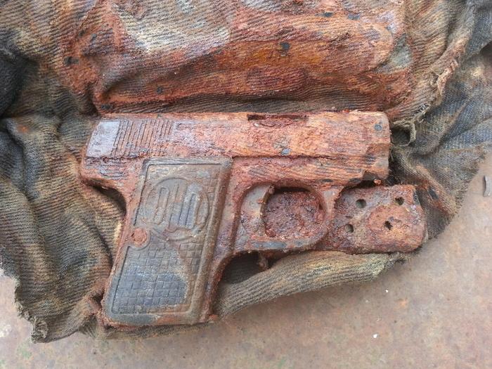Нашел дедовский пистолет Клад, Сокровища, Оружие, Вторая мировая война