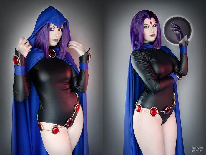 Raven - by - Kinpatsu Косплей, Ворон, Teen Titans, Девушки, Длиннопост