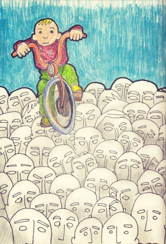 Цветные брызги серого дня. Моё, Рисунок, Цветные карандаши, СПГС, Картинки, Длиннопост