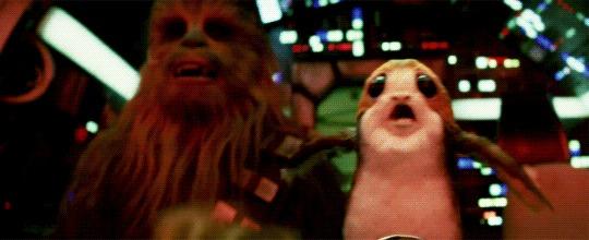 Когда за тобой гонятся менты, а ты с пассажиром Star Wars, Чубакка, Порги, Гифка