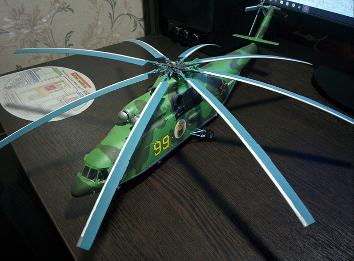 Ми-26 модель Ми-26, Вертолеты России, Масштабная модель, Длиннопост