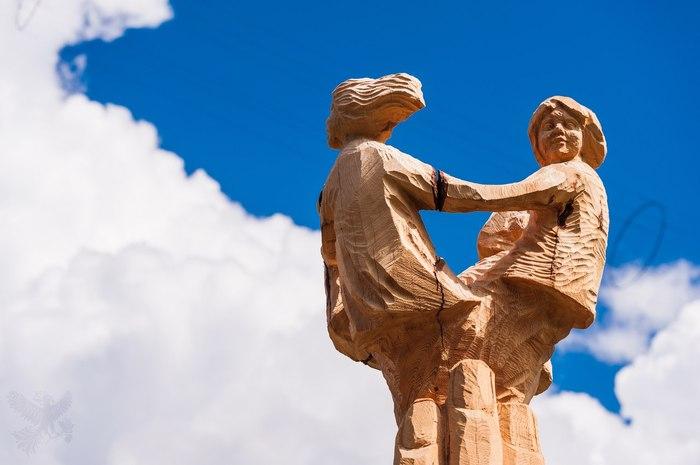 У лукоморья дуб зеленый Лукоморье, Деревянная скульптура, Мастер, Ангарск, Длиннопост, Иркутская область, Иркутск