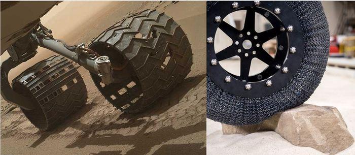 По Марсу на панцирных кроватях. марсоходы, новые колеса, curiosity, NASA