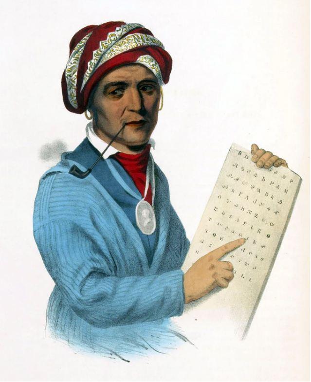 Как научиться писать, не умея читать: изобретение чероки Чероки, Письменность, История, Длиннопост