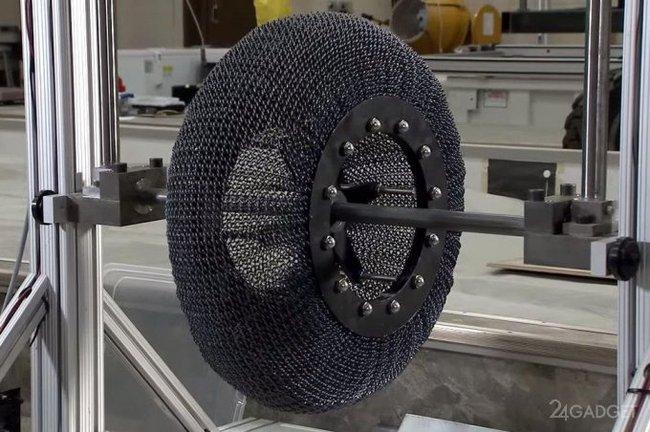 NASA тестирует сверхэластичные покрышки для планетоходов NASA, прототип, покрышки, планетоход, испытание, Колесо, Марсоход, новые технологии, видео, длиннопост