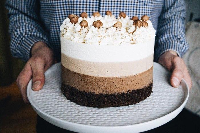 """Торт """"Три шоколада"""" с Бейлисом Еда, Торт, Рецепт, Сладости, Подарок, Праздники, Длиннопост"""