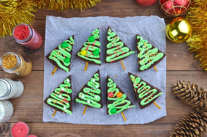 Зима близко: готовим мега шоколадные брауни-ёлки Рецепт, Десерт, Новый Год, Своими руками, Длиннопост