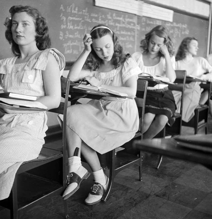 Школьницы, Оклахома. США, 1947 год