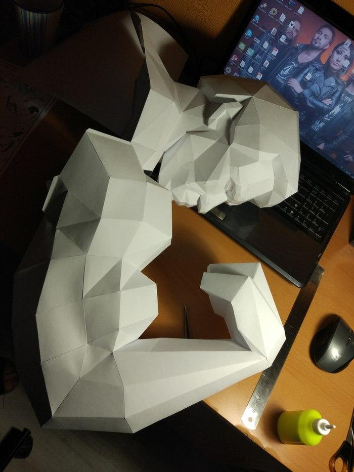 Арни из бумаги Papercraft, Арнольд шварценеггер, Подарок, Длиннопост
