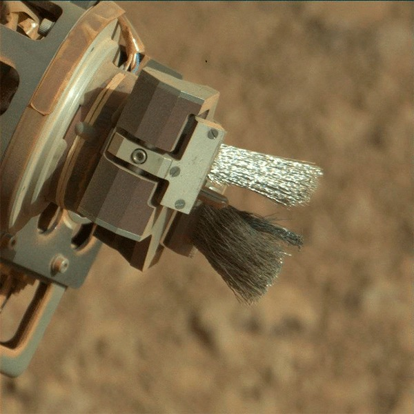 DRT - щетка марсохода Curiosity Curiosity, космос, марс, гифка