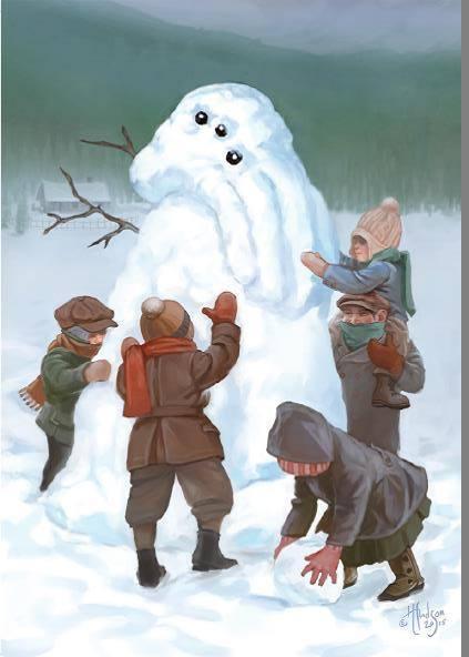 Снеговик во славу Ктулху
