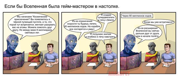 Если бы Вселенная была гейм-мастером. Комиксы, Вселенная, Пришелец, Человек, Настольные игры, Анахорет