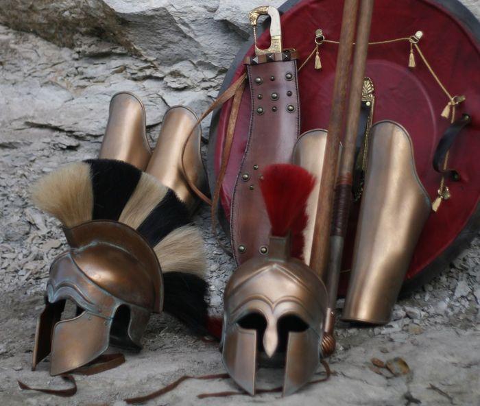 Вооружение гоплита Спарта, История, Оружие, Война, Гоплит, Греция, Спартанцы, Видео, Длиннопост