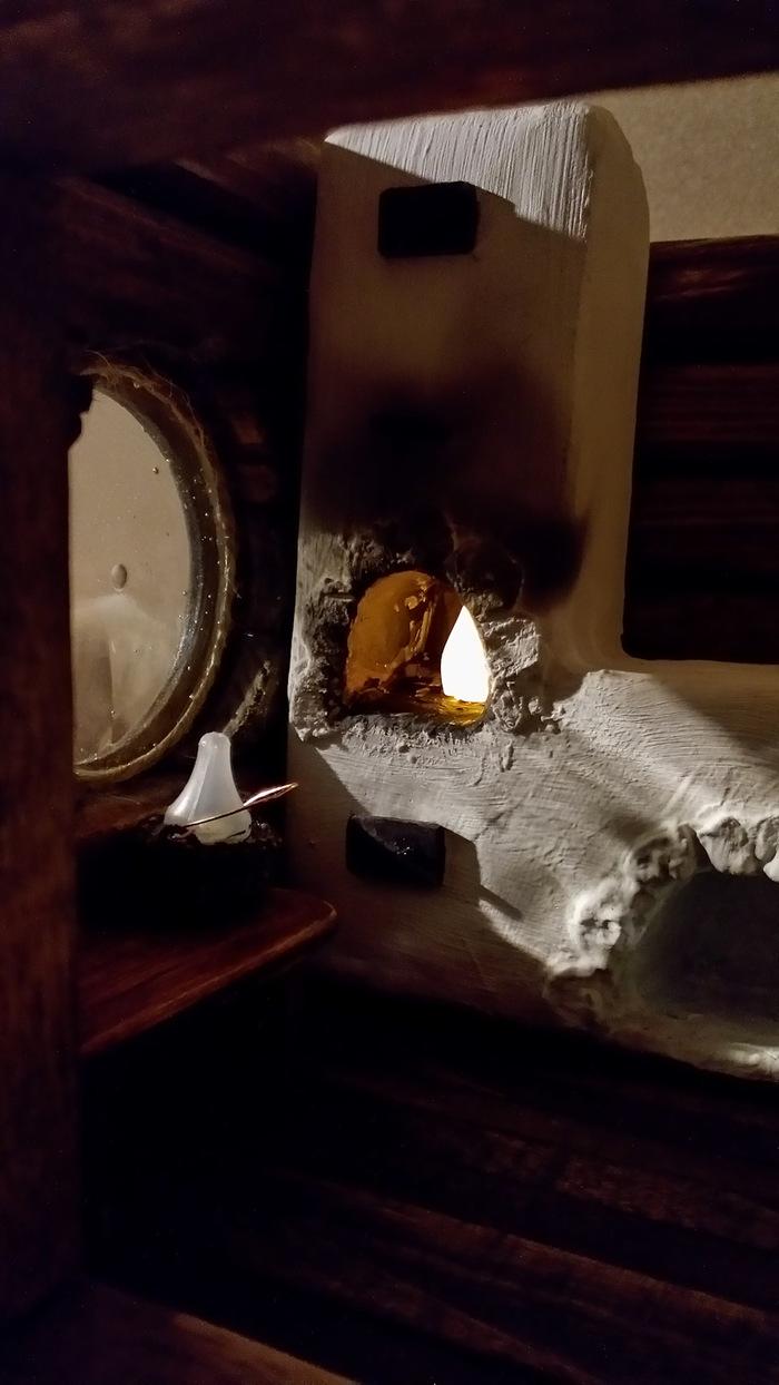 Домик охотника. ночник, поделки, не мое, охота, будка, длиннопост