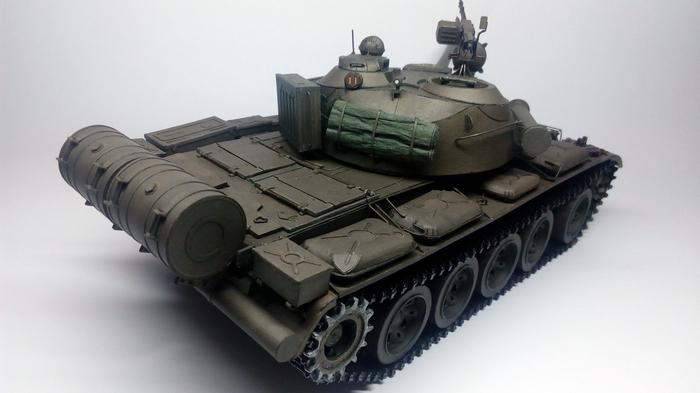 Т-55а из бумаги (1:25) Писятчитвёрка, Танки, World of Tanks, Бумажный моделизм, Длиннопост