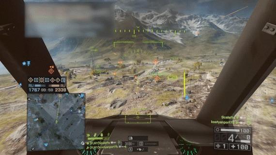 TV lucky shot Battlefield 4, ТВ ракета, Лакишот, Эпик и экшен, Гифка, Эпично, Вертолет и самолет