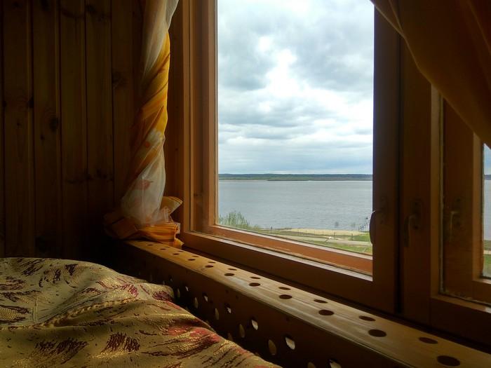 Вид на Волгу из домика на берегу Волга, Нижний Новгород, Отдых, Река