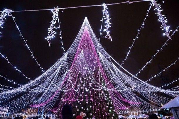 Рождественскую елку в Вильнюсе назвали самой красивой в Европе Ёлка, Длиннопост, Текст, Длиннотекст, Новый год, Красота, Милота