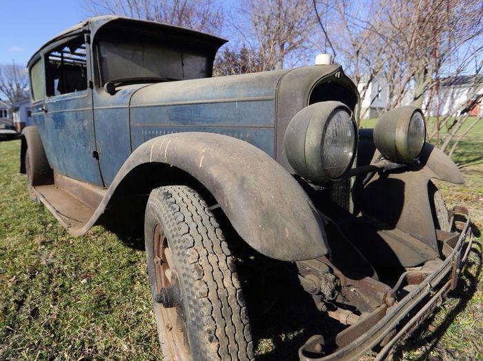 В США нашли 90-летний автомобиль, который простоял в гараже 50 лет. Ретроавтомобиль, Автомобильная классика, Старый, Редкие авто, Длиннопост