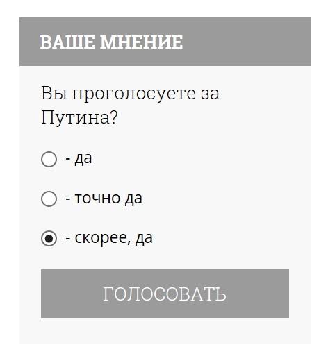 Опрос с юмором или нет? На фонтанке... Опрос, Политика, Путин, Выбор