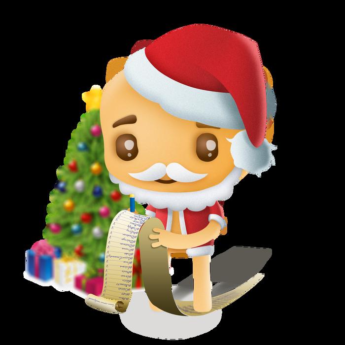 Новогодняя печенька Печенька, Новый Год, Пикабу, Список, Дед Мороз