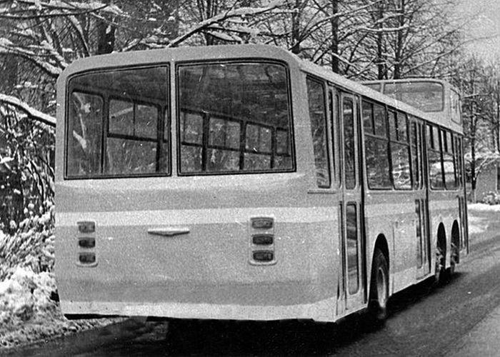 Экспериментальный двухэтажный автобус Автобус, Нами, Эксперимент, Опытный образец, Двухэтажный автобус, СССР, Нами-0159, Длиннопост
